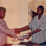 Donation of study materials to a student