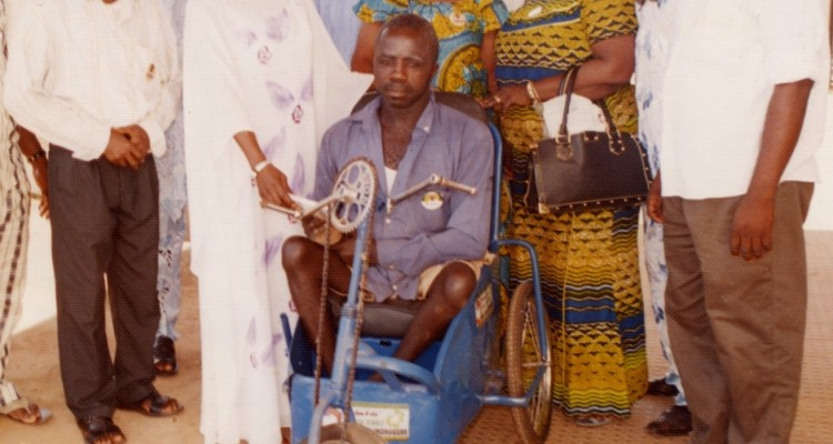Donation of a tri-cycle to the handicapped by the Ihonvbere Foundation